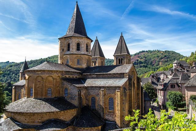Church and Reliquary of Sainte Foy, France On the Road Imagine you pack up your belongings in a sack, tie on your cloak, and start off on a months-long journey through treacherous mountains,