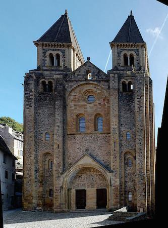 When a pilgrim arrived at Conques, they would probably head for the church to receive blessing.
