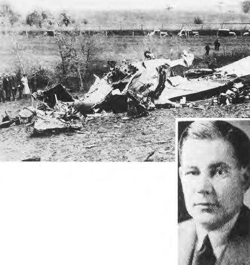 The crash of the TWA DC-2 (above) piloted by Harvey Bolton near Kirksville, Mo., on May 6, 1935, killed Sen.