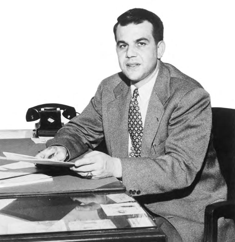 ALPA s second president, Clarence N. Sayen (below), was elected in 1952 after serving as the Association s executive vice-president during the trauma of Behncke s ouster.