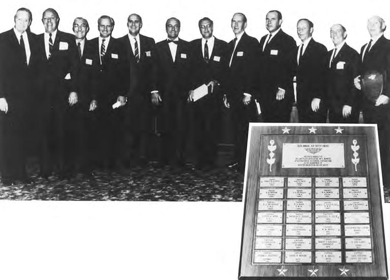 In November 1956 the Board of Directors established the annual ALPA Air Safety Award for outstanding contribution by members in the field of air safety.