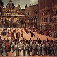 Painting by Gentile Bellini (1496) Details of Bellini painting executed between 1496 and