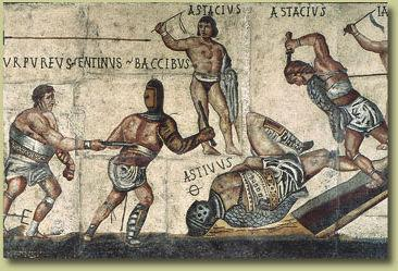 From the Latin gladius (sword) Professional fighters