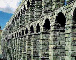 Aqueduct Brought water from