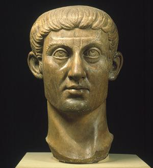 Constantine 312 AD First Christian Emperor Follows Diocletian after