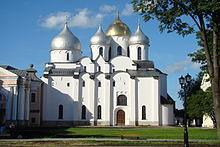 Contributions to History: Architecture Saint Sophia Cathedral in Novgorod, mid-11th century Rus'-Byzantine relations became closer following the marriage of the porphyrogenita Anna to Vladimir the