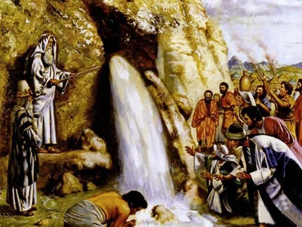 water from a rock exodus 17:1-7 It was time for the Israelites to move on. God gave them the marching orders. The next stop was a place called Rephidim.