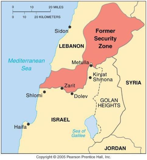 Israels Security Zone in Lebanon Israel established a security zone in southern Lebanon