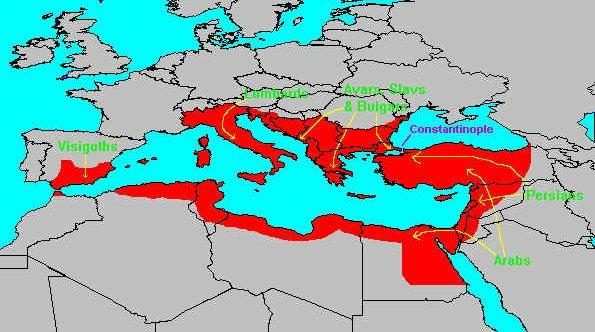 The Empire at Its Height The empire was at its height In 565, during