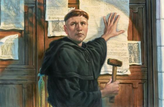 MARTIN LUTHER A Renaissance individual that disagreed with the Catholic church Outraged with the church so he wrote the 95 Thesis (document showing all the wrongdoings of the Catholic church) and