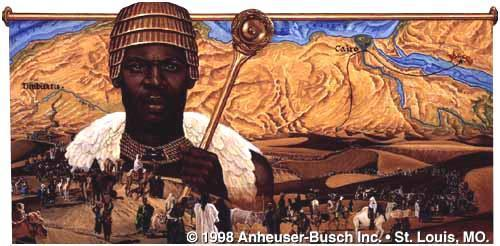 Mansa Musa He was an African American ruler of Mali He may have been the