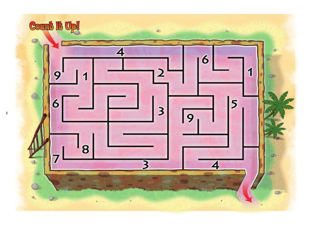 Instructions: Complete the maze, circling the numbers along the correct path.