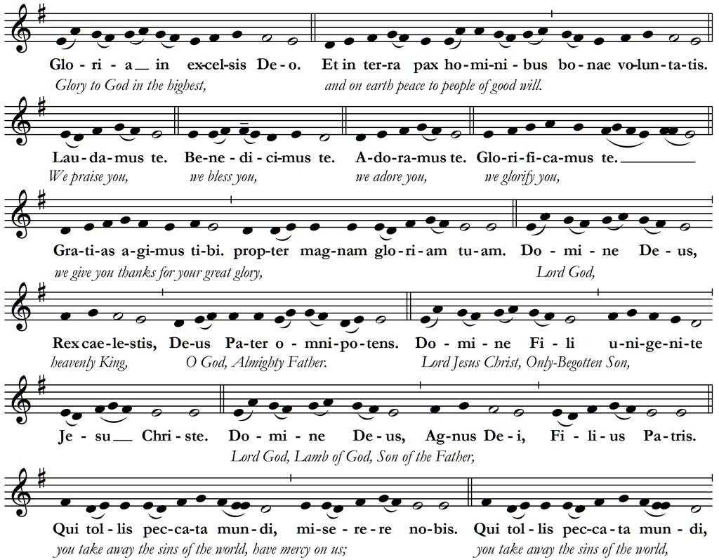 KYRIE Please repeat the Kyrie and Christe phrases after the cantor; then join in the final Kyrie.