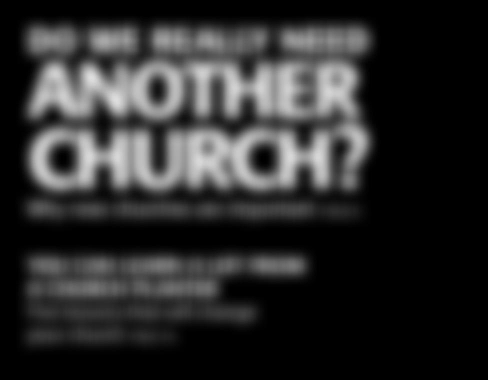 Why new churches are important YOU