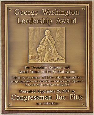 For the plaque, come up with a name for your reward (ex. The George Washington Award for Bravery) and then list at least 3 reasons why he is receiving this award.