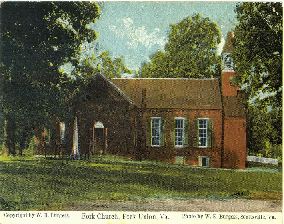 An Historical Sketch of Fork Union Baptist Church (Picture, circa 1911) 4745 James