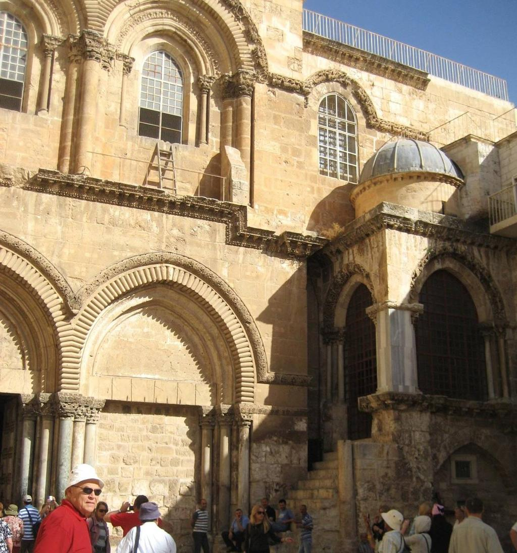 Courtyard of the Basilica of the Holy Sepulchre The stone