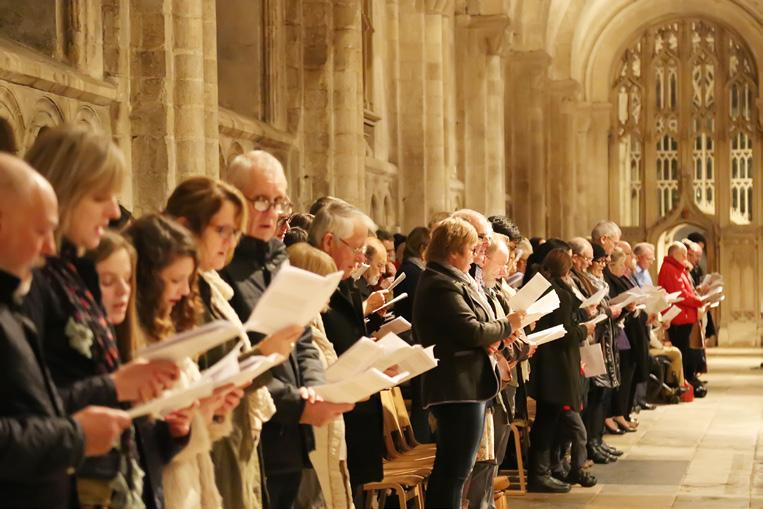 00pm Enjoy the story of Christmas told with carols and readings as the Choirs move in procession through the whole. Eucharist with Hymns, 9.30am Eucharist with hymns for the Fourth Sunday of Advent.