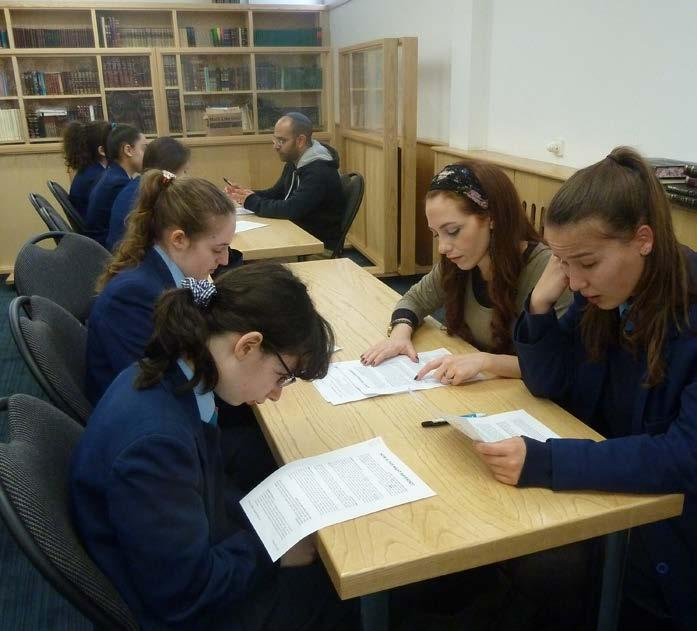 Some of the Girls Text Group at the Kinloss Kollel.
