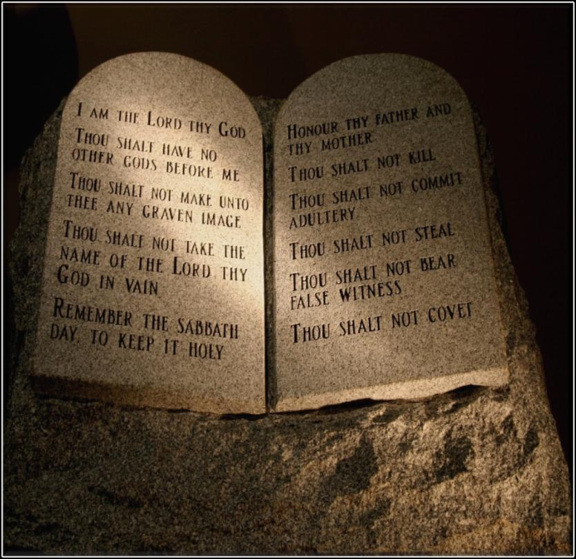The Ten Commandments were the main part of Hebrew Law given to Moses by God.