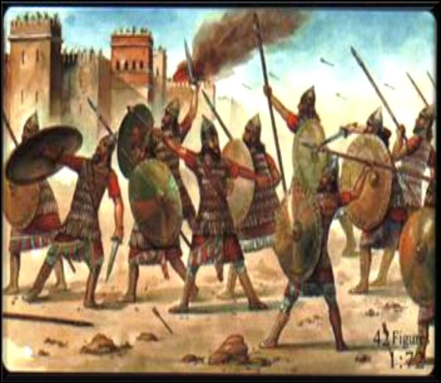 The two divided kingdoms were to weak to resist invasion by foreign powers and in 722 B.C.