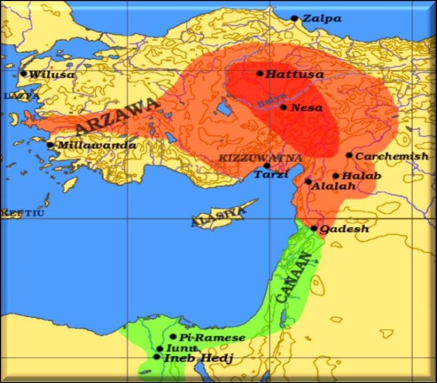 The Hittite Empire would span Asia Minor, Syria and part of Mesopotamia and