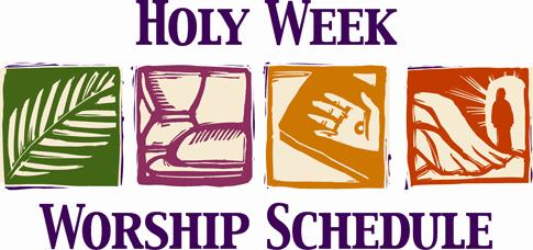HOLY THURSDAY April 13, 2017 7:30 p.m. Mass of the Lord s Supper Adoration of the Blessed Sacrament until 10:00 p.m. GOOD FRIDAY April 14, 2017 7:30 p.m. Multi-Media Stations of the Cross HOLY SATURDAY April 15, 2017 8:00 p.