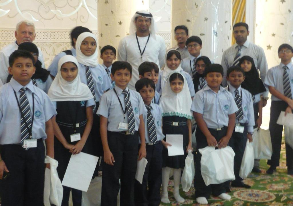 Most of the students had visited the Grant Mosque with their parents before.