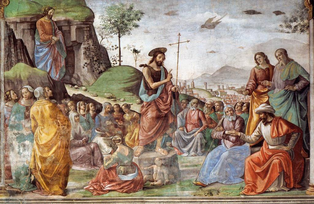 Preaching of St John the Baptist, by Domenico Ghirlandaio, 1486-90 PRAYER & WORSHIP Mass of Anticipation: Saturday, 5:15 p.m. Sunday Mass: 7:30, 9:00 and 10:30 a.m. (English); 5:00 p.m. (Spanish) Daily Mass: Monday, Tuesday, Wednesday and Friday, 7:00 a.