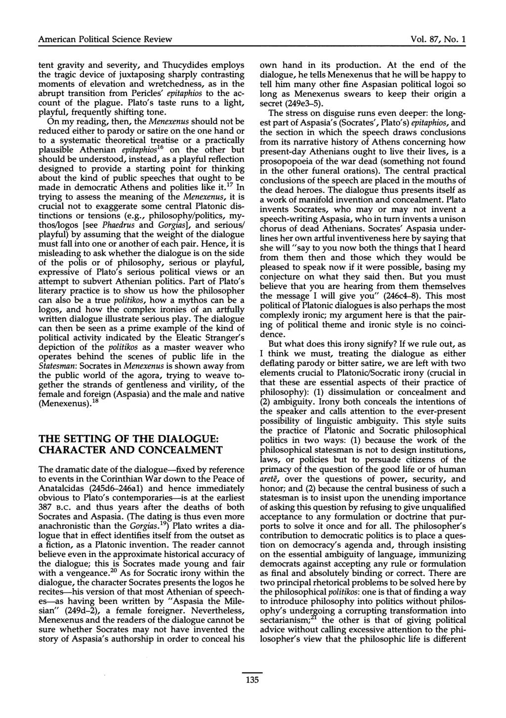 American Political Science Review Vol. 87, No.