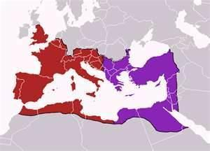 The Empire: East and West Germanic tribes defeat Western Roman Empire Roman Empire in the East was