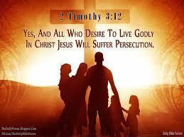 Many in the world will also at times reject us for our faith and even try and make our lives difficult The Apostle Paul wrote, Yes, and all who desire to live godly in Christ Jesus will suffer