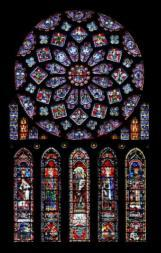 North Rose Window The Glorification of the Virgin Chartes, XIII, Stained Glass Source: 9 Conclusion -Early Christian art blended the formal aspects of classical art with Christian content, then