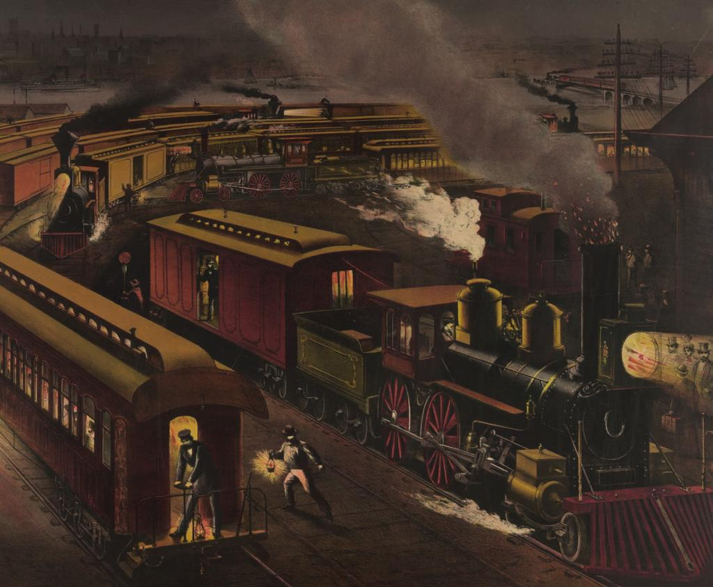 This picture shows a train depot at night. What kinds of activities can you see happening here? LESSON 1 What Did You Learn?