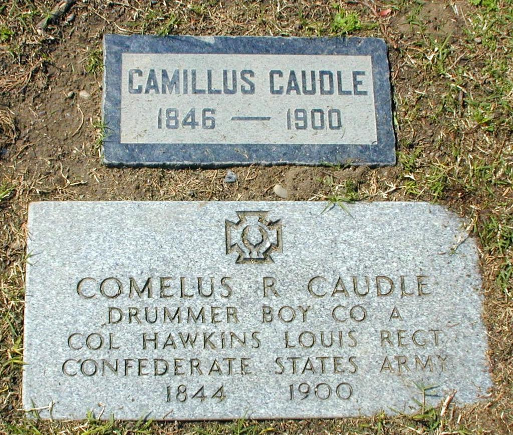 OCCGS Civil War Veterans Project Veteran s Information Veteran s Name: Camillus Randolph CAUDLE 1 Birth Date: 18 September 1846 Location: Rankin County, Mississippi Death Date: 21 April 1900