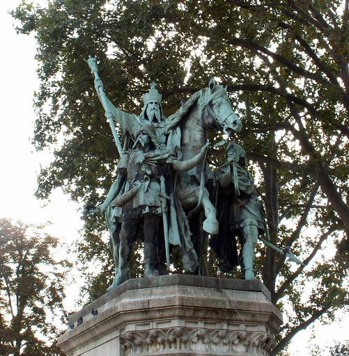 Carolingian Art Statue of Charlemagne, Paris, France 1. Aside from Charlemagne, what other names was the emperor known by? 2.