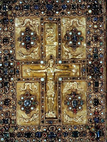 Carolingian Art Lindau Gospel Cover Lindau Gospels Cover, 880 A.D. 1. What is a Triumphant Christ? 2.