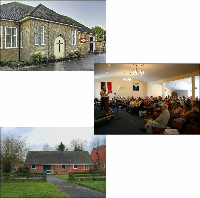 PREMISES The church centre, originally built in 1938, has been added to over the years and now provides an integrated suite of buildings consisting of worship area seating 200, halls and meeting