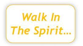 9) Being continually filled with the Holy Spirit and CHOOSING to walk in the Spirit If we continually choose to walk in the Spirit we will help to bring peace and unity to our church meetings and
