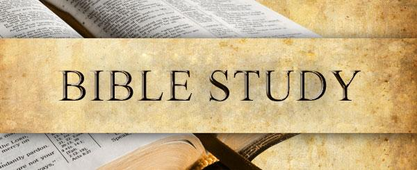 The Bible Study group will not be meeting on December 24th or on December 31st. Meetings will resume in the New Year and it s not too late to join us!