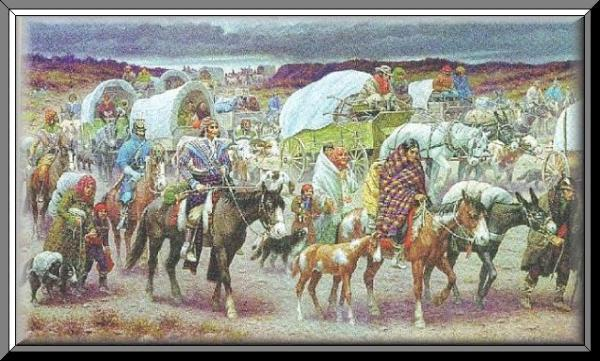 Jackson Wins The last tribe to leave was the Cherokee Trail of Tears, 1838 the forced march of Cherokees that led to thousands of deaths by