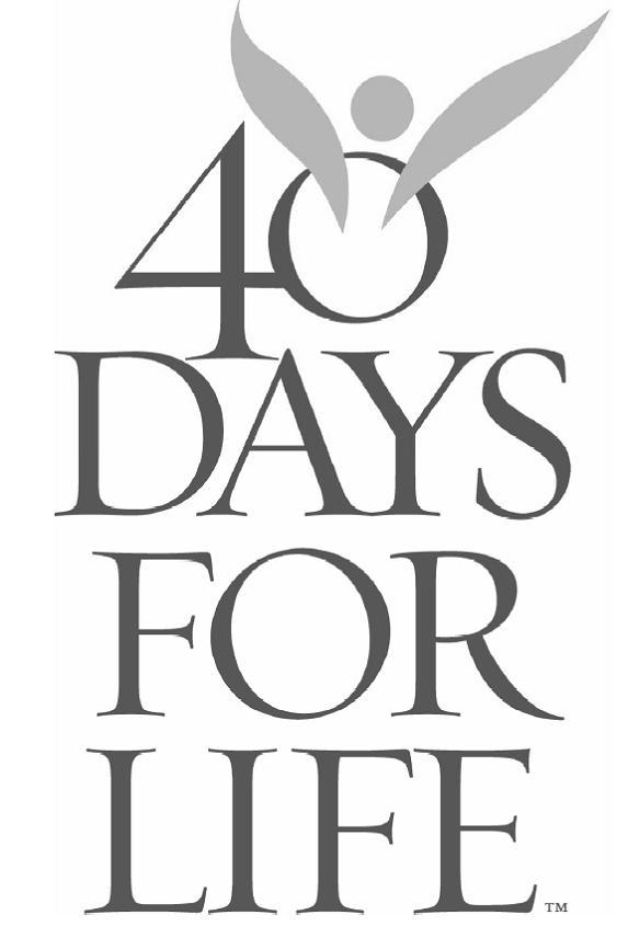 There are collection boxes at the back of church to place your sock donations. Join the 40 Days for Life Spring Campaign for prayer, fasting, and peaceful vigil to end abortion.