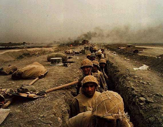 Iran-Iraq War In 1980, Iraq invaded Iran. Saddam Hussein wanted to take advantage of Iran s chaos.