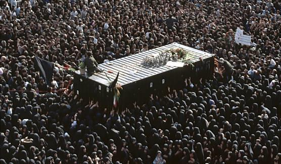 Khomeini died in 1989 and millions of people mourned in the streets.