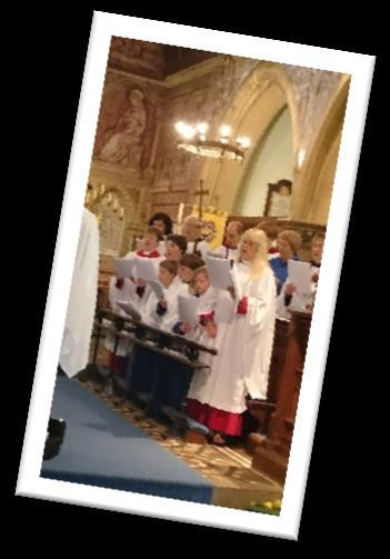 At there is a junior choir which regularly performs at the Family Matins services and other special services.