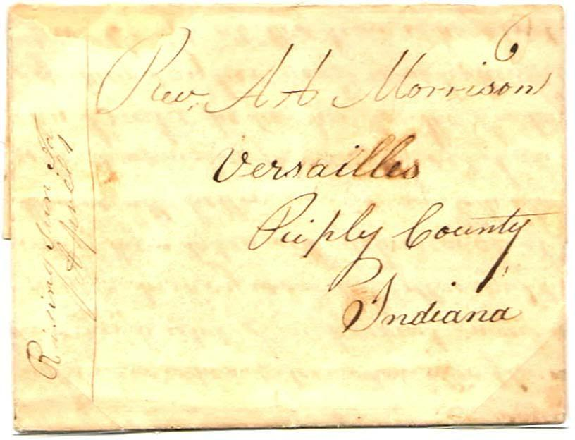 "Manuscript {J :w! /{,, O&v1o J :JZ 1 )luu0/7 April 1, 1828. Six cent rate for one sheet traveling less than 30 miles. ""'The first merchant of the village was Caleb A. Craft. who."