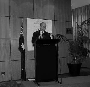 Prime Minister John Howard then entered the room and in the view of television cameras acknowledged the valuable contribution of Greek Australians.