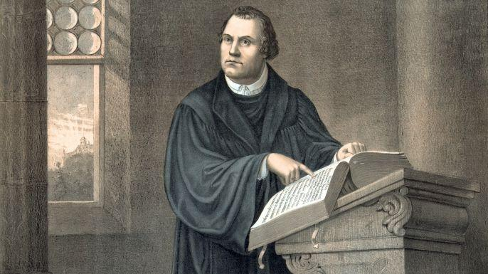 Martin Luther s views Salvation can be gained through faith alone. All Church teachings must be based on the Bible. The pope and Church traditions are false authorities.