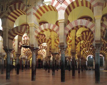 Great Mosque of Cordoba, 786-788, Spain Two-thirds of its area is covered by the prayer hall