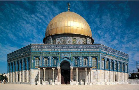 The Dome of the Rock is located on the third most holy site in Islam In Islamic tradition, this is believed to be the rock from